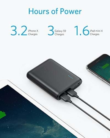 Anker PowerCore 13000mAh Powerbank Externer Akku 2-Port 3A Tragbares Ladegerät mit PowerIQ und Voltage Boost Technologie für iPhone XS Max / XR / XS / X / 8 / 8Plus / 7 / 6s / 6Plus, iPad Air 2 mini 3, Galaxy S6 / S6 Edge und Handys (Schwarz) - 2