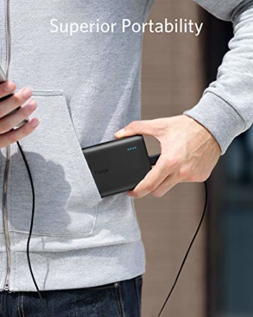 Anker PowerCore 13000mAh Powerbank Externer Akku 2-Port 3A Tragbares Ladegerät mit PowerIQ und Voltage Boost Technologie für iPhone XS Max / XR / XS / X / 8 / 8Plus / 7 / 6s / 6Plus, iPad Air 2 mini 3, Galaxy S6 / S6 Edge und Handys (Schwarz) - 4