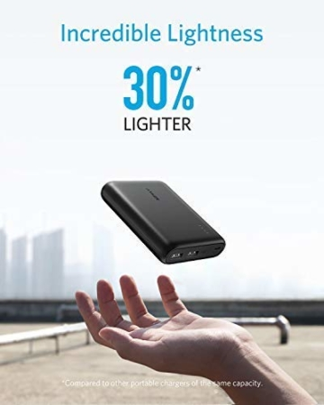 Anker PowerCore 13000mAh Powerbank Externer Akku 2-Port 3A Tragbares Ladegerät mit PowerIQ und Voltage Boost Technologie für iPhone XS Max / XR / XS / X / 8 / 8Plus / 7 / 6s / 6Plus, iPad Air 2 mini 3, Galaxy S6 / S6 Edge und Handys (Schwarz) - 7