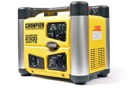 Champion 2300 Watt Inverter Benzin Generator Notstromaggregat Stromerzeuger EU, 3.8 liters, Gelb-Schwarz - 1