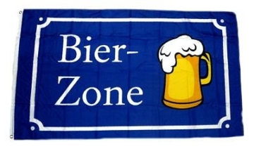 Fahne / Flagge Bier Zone 90 x 150 cm Fahnen Flaggen -