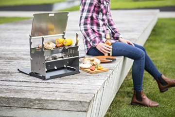 FENNEK GRILL, Tablet Grill, Laptop Grill, Holzkohle Grill, Outdoor Grill, Mobiler Grill, Camping Grill, Picknick Grill, Notebook Grill, Grill to go - 2