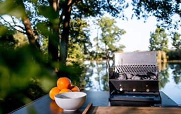 FENNEK GRILL, Tablet Grill, Laptop Grill, Holzkohle Grill, Outdoor Grill, Mobiler Grill, Camping Grill, Picknick Grill, Notebook Grill, Grill to go - 4