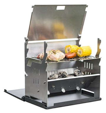 FENNEK GRILL, Tablet Grill, Laptop Grill, Holzkohle Grill, Outdoor Grill, Mobiler Grill, Camping Grill, Picknick Grill, Notebook Grill, Grill to go - 1