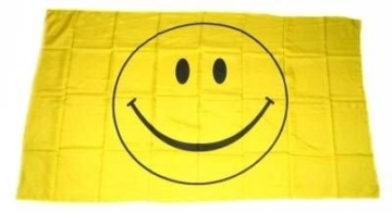 Flaggenking Flaggen/Fahnen, Smile Smily Smiley, wetterfest, Mehrfarbig, 150 x 90 x 1 cm, 16350 -