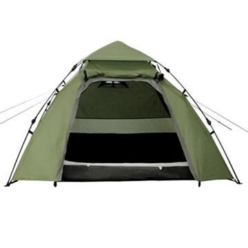 Lumaland Outdoor Pop up Kuppelzelt Wurfzelt 3 Personen Zelt Camping Festival Etc. 215 x 195 x 120 cm robust Grün - 2