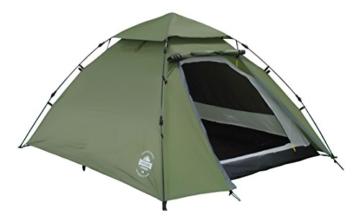 Lumaland Outdoor Pop up Kuppelzelt Wurfzelt 3 Personen Zelt Camping Festival Etc. 215 x 195 x 120 cm robust Grün - 1