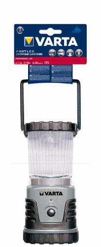 Varta 4 Watt LED Camping Lantern L20 3D Campinglampe Gartenlaterne Zeltlampe Laterne Leuchte Lampe Taschenlampe Flashlight spritzwassergeschützt (geeignet für Camping, Angeln, Garage, Notfall, Stromausfall) -